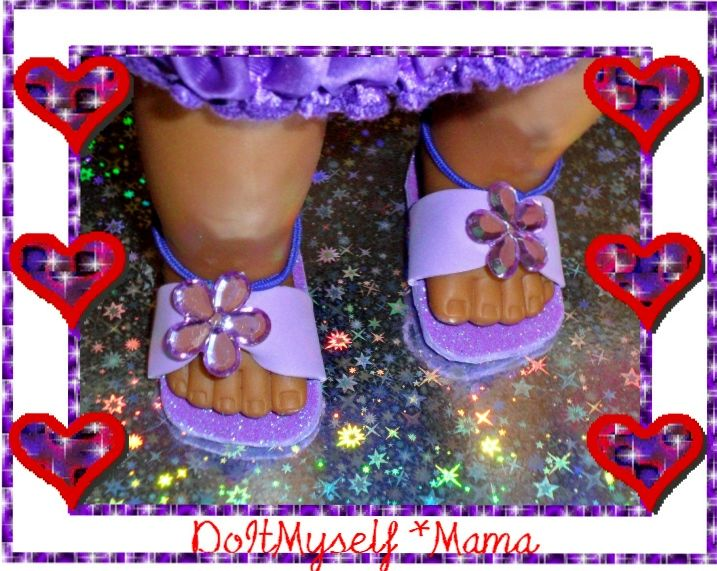 DIY American Girl Doll Shoes ~ Foam & ponytail holder* {DoItMyself Mama}