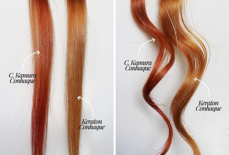 Comparação: Banhos de brilho C. Kamura Conhaque e Keraton Conhaque