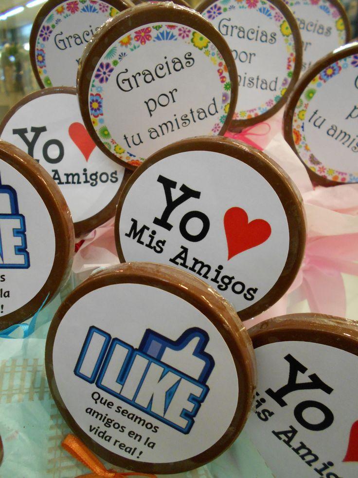 Chocolates con frases para el Dia Del Amigo