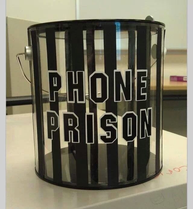 {Phone Prison} Awesome Idea for teachers... but would be a great idea for parents too! Way better than just taking the phone away!