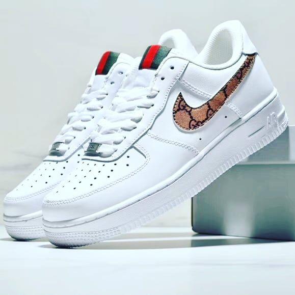 Custom Nike Air Force 1 Gucci Gg Nike Shoes Air Force Custom Nike Shoes Mens Nike Shoes