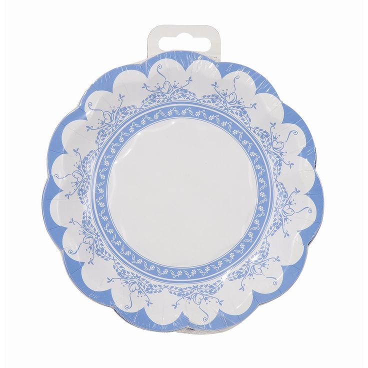 Party Porcelain Blue Small Paper Plate -This party porcelain is in fact paper! No fine china required!  Our paper plates are cleverly created with decorative blue and white designs normally only seen on fine crockery.  Size: 27cm diameter  Putti Fine Furnishings