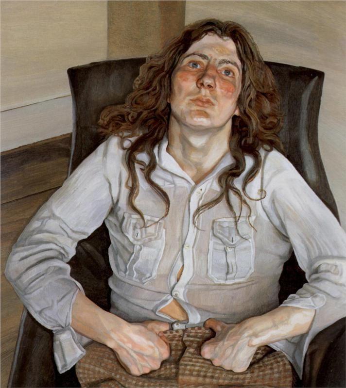 Triple Portrait - Lucian Freud - WikiPaintings.org