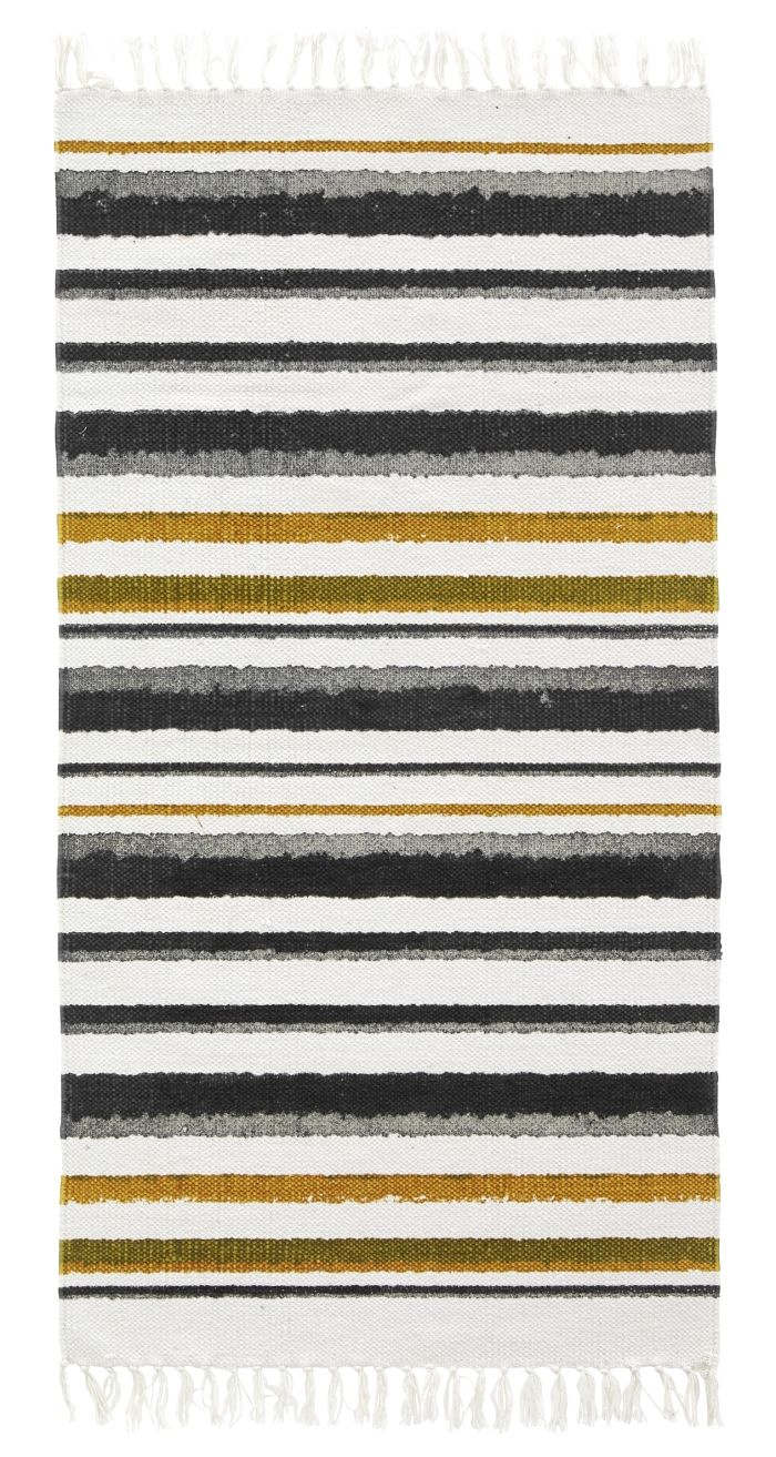 Kids Concept Waschbarer Teppich Streifen Neo Schwarz Weiß Honig 70x130cm Bei Fantasyroom