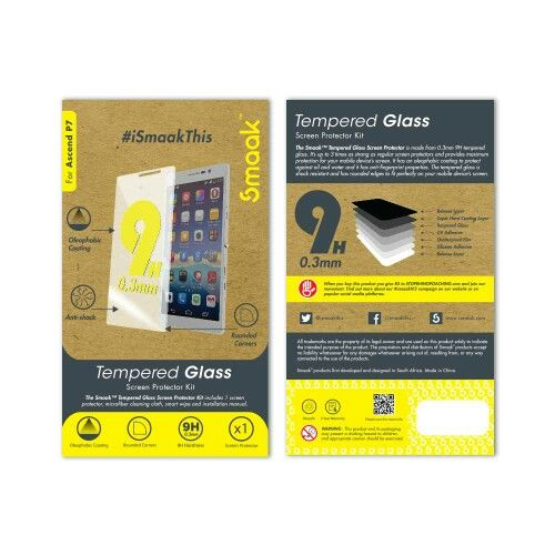 Smaak™  Huawei Ascend P7 - Tempered Glass 9H- Single Pack. For more info visit http://ismaak.com