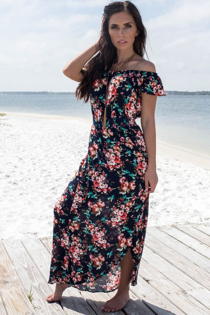 Telling You Now Navy Maxi High Low Dress