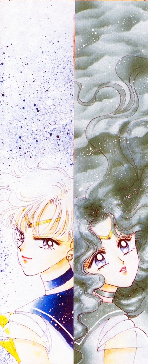 Manga Sailor Uranus and Sailor Neptune