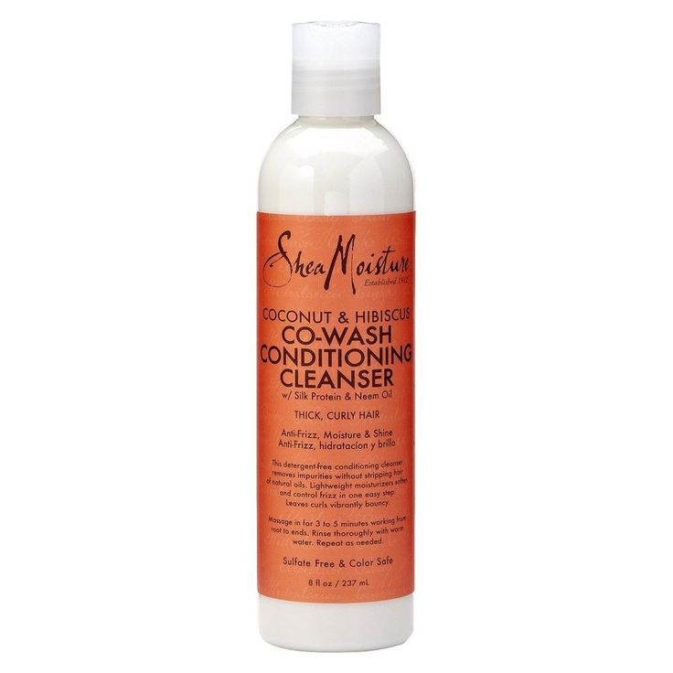 SheaMoisture Coconut & Hibiscus Co-Wash Conditioning Cleanser - 8 Fl Oz
