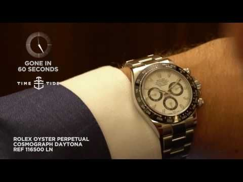 60sec live review of the Rolex Oyster Perpetual Cosmograph Daytona Ref 116500 LN