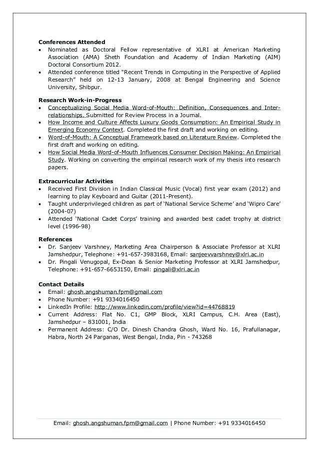 Xlri Resume Format 2-Resume Format Resume format, Resume, Diagram