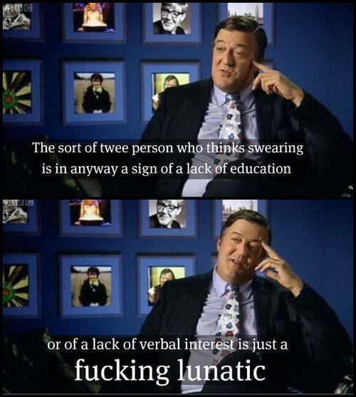 Stephen Fry on fucking swearing - Imgur