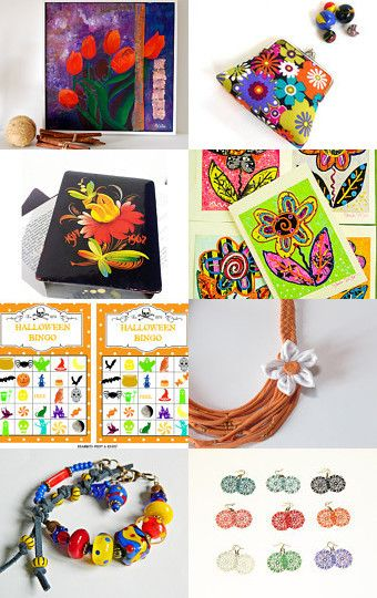 Flower Power by Hema Rao on Etsy--Pinned with TreasuryPin.com