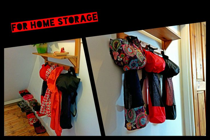 ScooterSlingz bags are great for keeping the hall tidy #scooterhack #decluttering