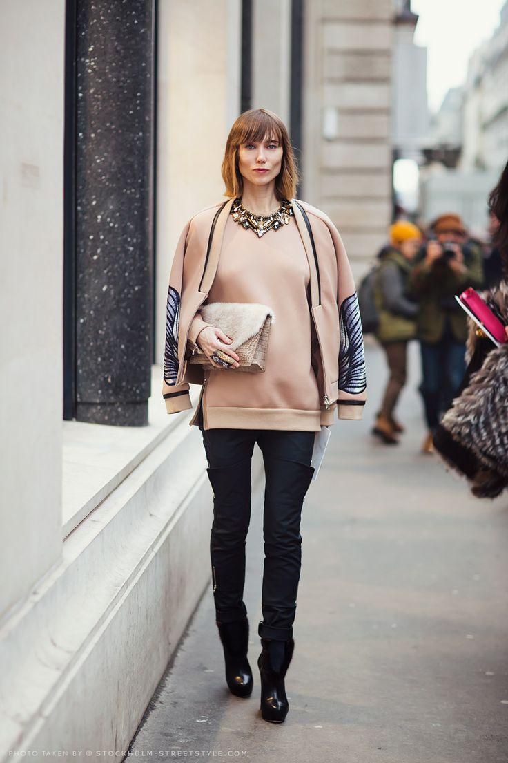 Anya Ziourova in the 2013 pre-collection sweatshirt #streetstyle
