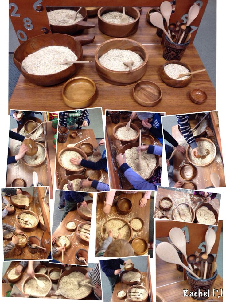 "Porridge on the Finger Gym - from Rachel ("",) -to link in with the story of Goldilocks and the Three Bears."