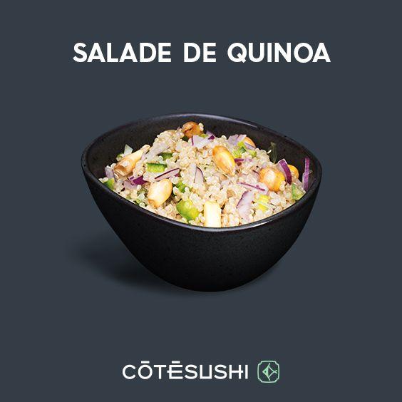 SALADE DE QUINOA : Quinoa, oignon rouge, oignon nouveau, coriandre, huile d'olive, jalapenos, mais cancha, sauce mint