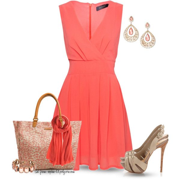 17 Best ideas about Coral Dress Outfits on Pinterest | Coral dress ...