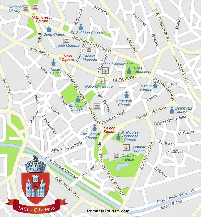 Iasi City Map (Harta Orasului Iasi)