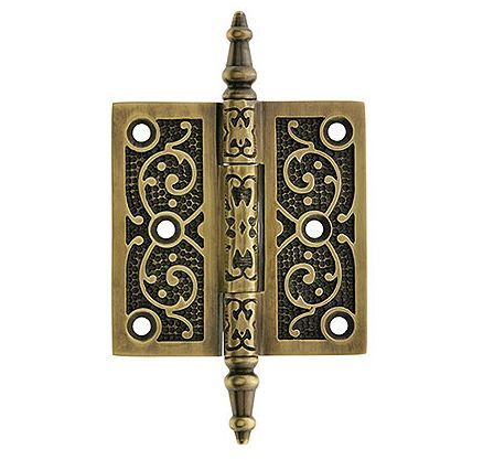 For my front door and/or maybe for living room doors. Decorative Vine  Pattern Hinge In Antique-By-Hand Finish - 13 Best Antique Hinges Images On Pinterest Doors, Drawings And