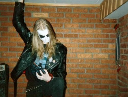 """Dead"" (born Per Yngve Ohlin in Sweden), vocalist for Norwegian black metal band Mayhem."