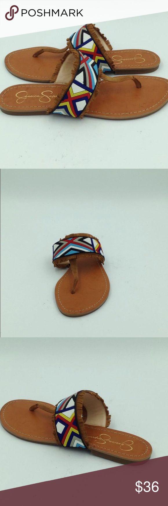 NEW Women's Jessica Simpson Multi Color Flats Never worn, brown sued, Multi color,    A15 Jessica Simpson Shoes Sandals