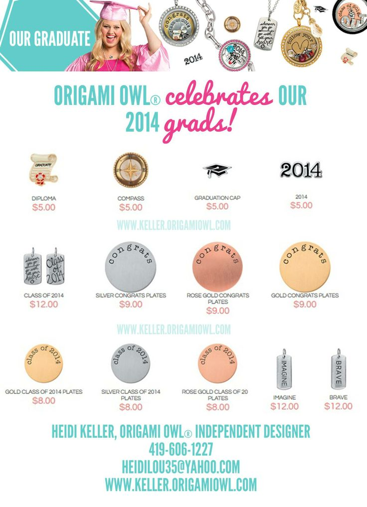Gifts for Graduates! 2014 Graduation Gifts from Origami Owl. www.storyboardlockets.origamiowl.com