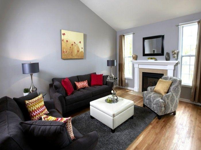 Die besten 25+ Graurot es schlafzimmer Ideen auf Pinterest Rote - wohnzimmer gelb grau