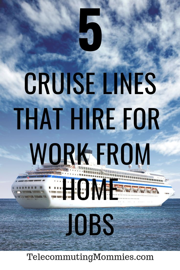 5 Cruise Line Careers That Make the Perfect Work From Home Job