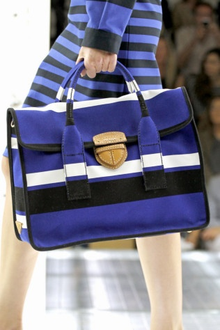Prada in blue.