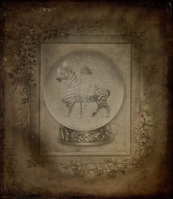 * Antique Snow Globe * by pareeerica, via Flickr