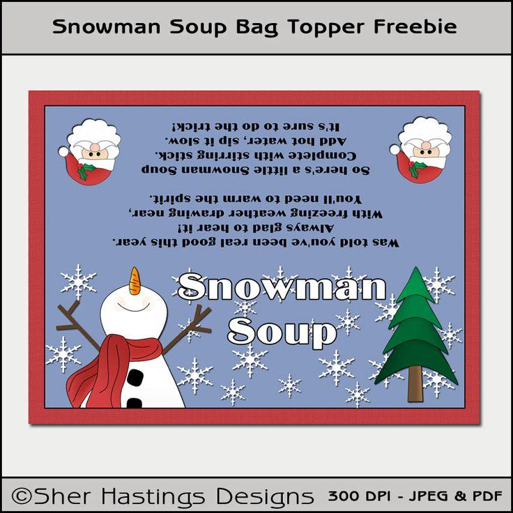 Free Printable Snowman Soup | Sher's Creative Space: Blog ...