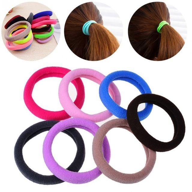 Girls Beauty Hair Band Rope Elastic Elegant Candy Color Hair Ring Decor Good