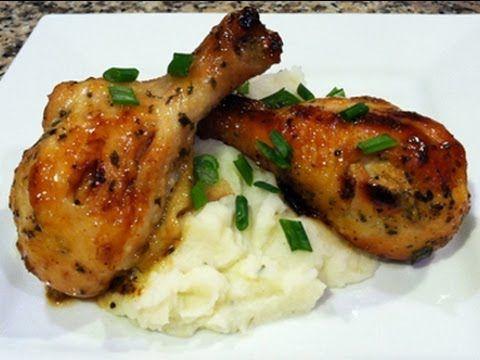 Pollo en Miel y Mostaza Receta para San Valentin