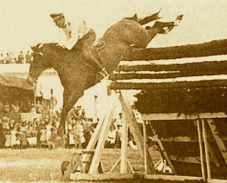 Huaso (1933 - August 24, 1961) was the horse that, ridden by Chilean Captain Alberto Larraguibel, set the high-jump world record on February 5, 1949, by jumping 2.47 m (8 ft 1 in) in Viña del Mar, Chile - one of the longest-running unbroken sport records in history (63 years as of 2012.)