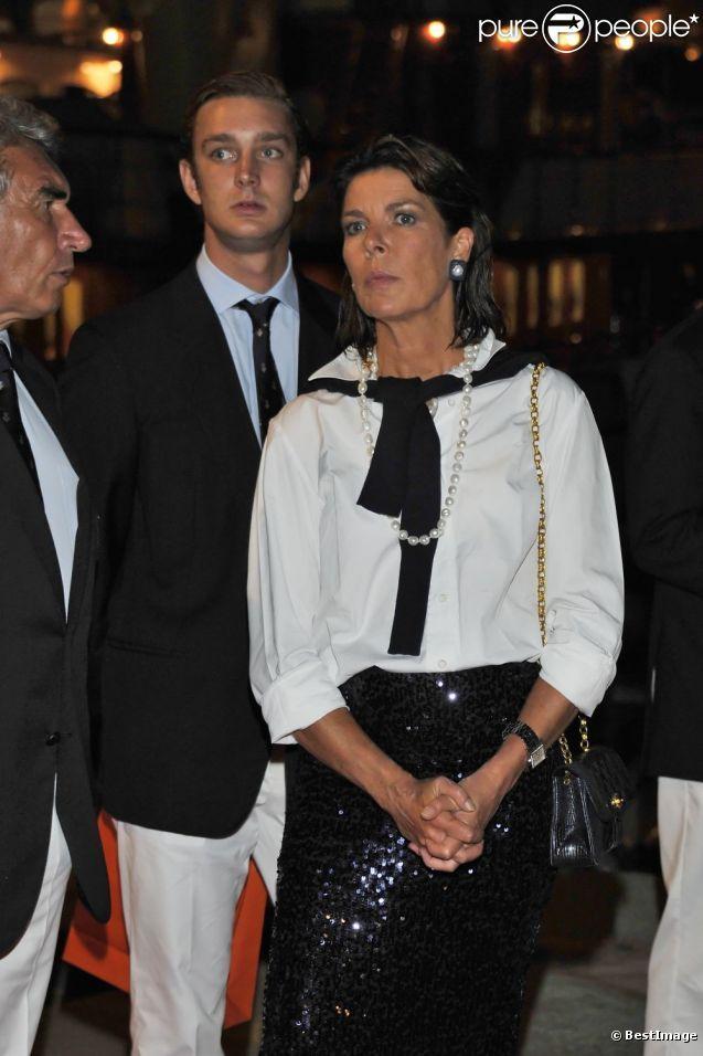 Caroline de Monaco et son fils Pierre lancent la Monaco Classic Week-La Belle Classe. Le 14 septembre 2011