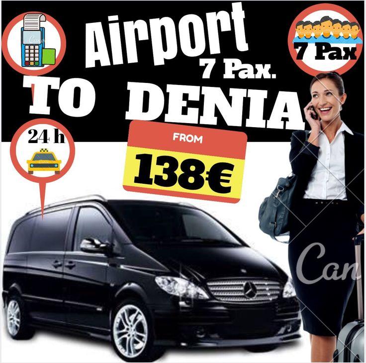 ALICANTE AIRPORT TO DENIA FOR 7 PAX www.alicante-airporttransfers.com/en/