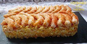 Pastel de langostinos con pan de molde