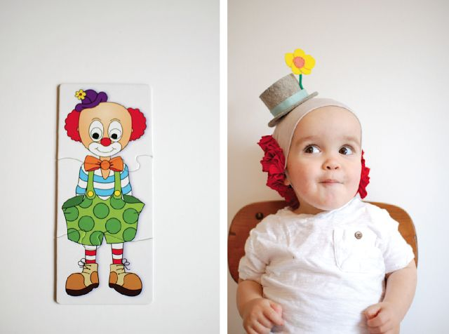 DIY clown wig - @casey | paper+twine  makes the best Halloween costumes