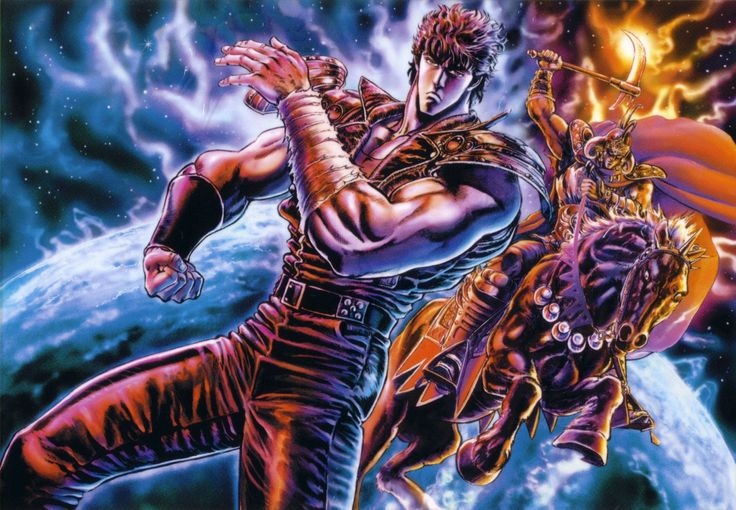 Kenshiro and Raoh, Fist of the North Star / Hokuto no Ken