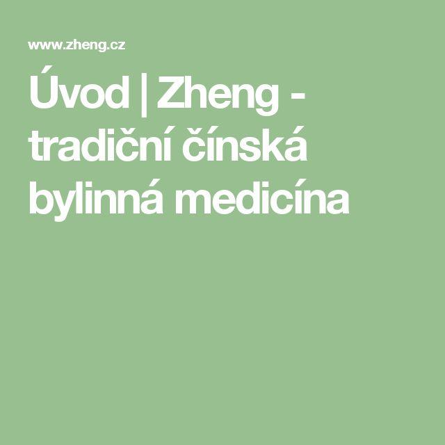 Úvod | Zheng - tradiční čínská bylinná medicína