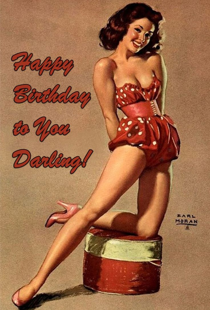 Happy Birthday pin-up girl