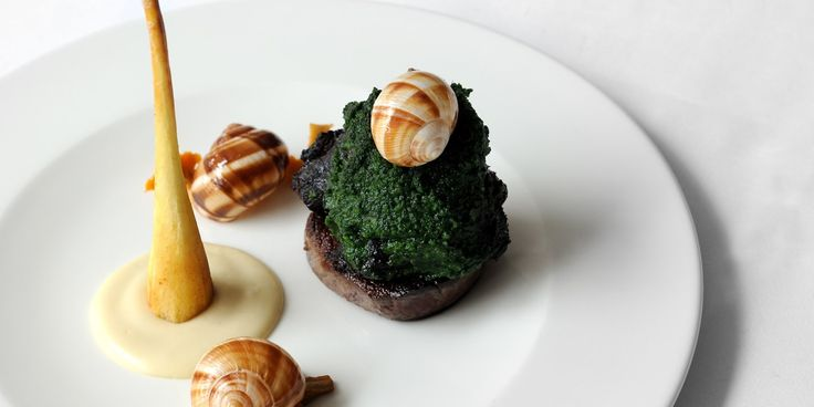 This extravagant recipe from top chef Luke Holder uses two different cuts of beef: cheek and fillet, serving the meat with snails for a dinner with a difference