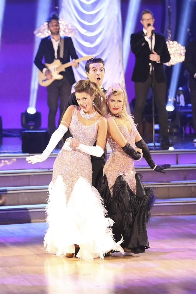 Mark Ballas, & partner Sadie Robertson dance a trio routine with Emma Slater   -  Dancing With the Stars  -  Week 9  -  Season 19  -  fall 2014