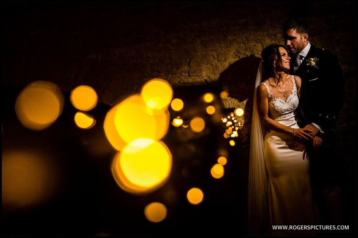 Wedding portrait at the Great Tythe Barn in Tetbury, Cotswolds -