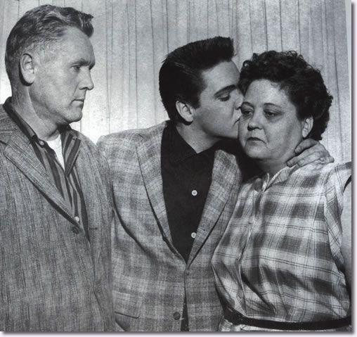 Elvis Presley and Gladys Presley (mother)