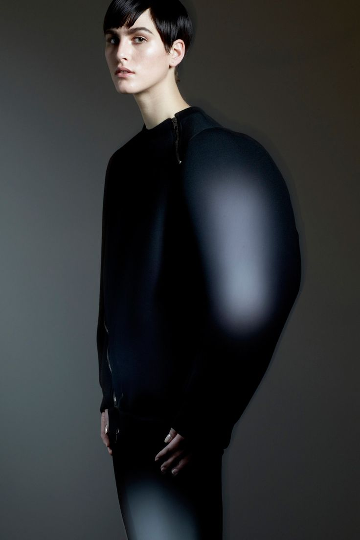This is not a knit wear piece however I find the silhouette very much intriguing and inspirational. The rounded shoulders are eventuated and pushes the boundaries of normal dress.  Damir Doma prefall 2013 Credit: style.com