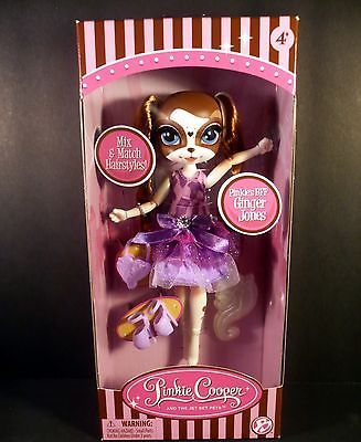Pinkie Cooper Jet Set Doll Ginger Jones Dog Fashion Doll Purple Outfit Cute