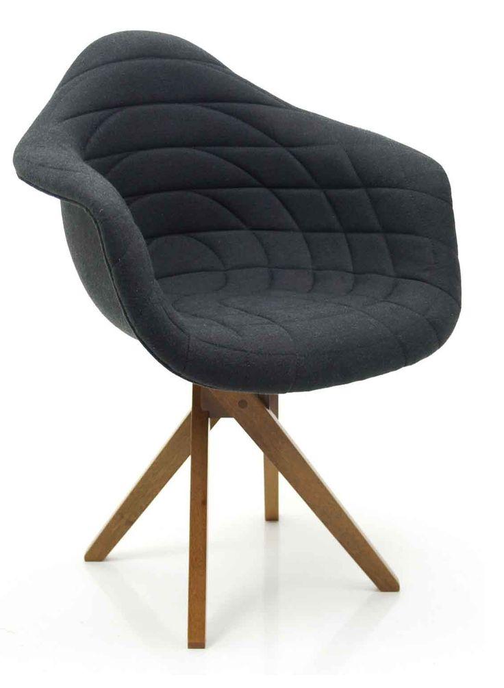 Cadeira DAW Charles Eames Estofada Giratória com Braços - R$970,00 ou R$873,00 à vista.