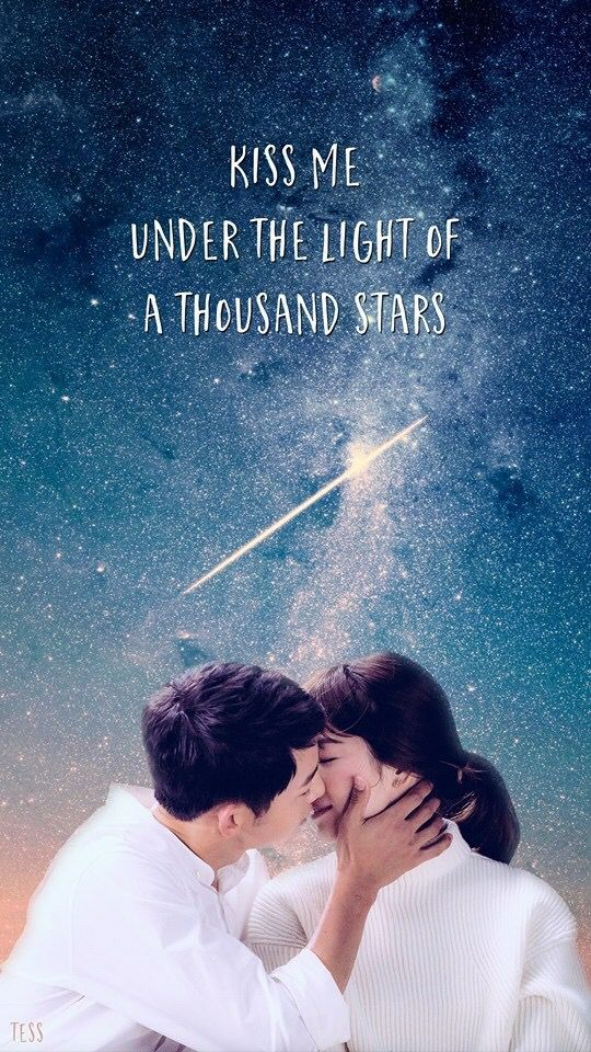 Kiss me under the light of a thousand stars........❤❤❤ #Descendants of the sun
