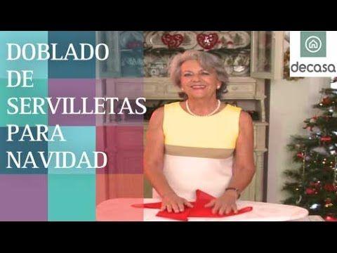 M s de 1000 ideas sobre doblar las servilletas en - Doblar servilletas para navidad ...